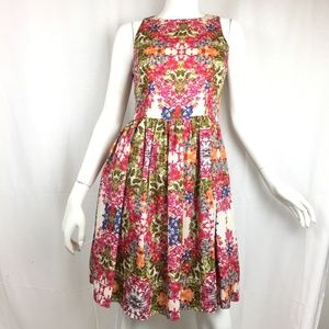 Maggy London 2 floral sleeveless dress w/pockets